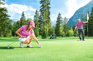 Golfing in the Alps in Tyrol